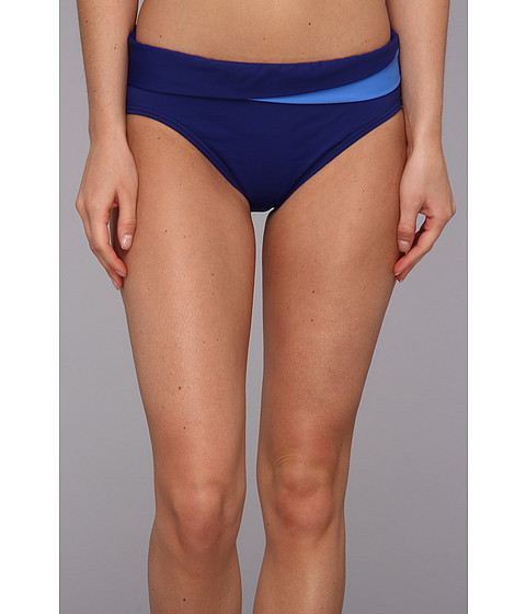 Tommy Bahama - Deck Piping High Waist Pant w/ Crossed Band (Offshore Blue Multi) Women