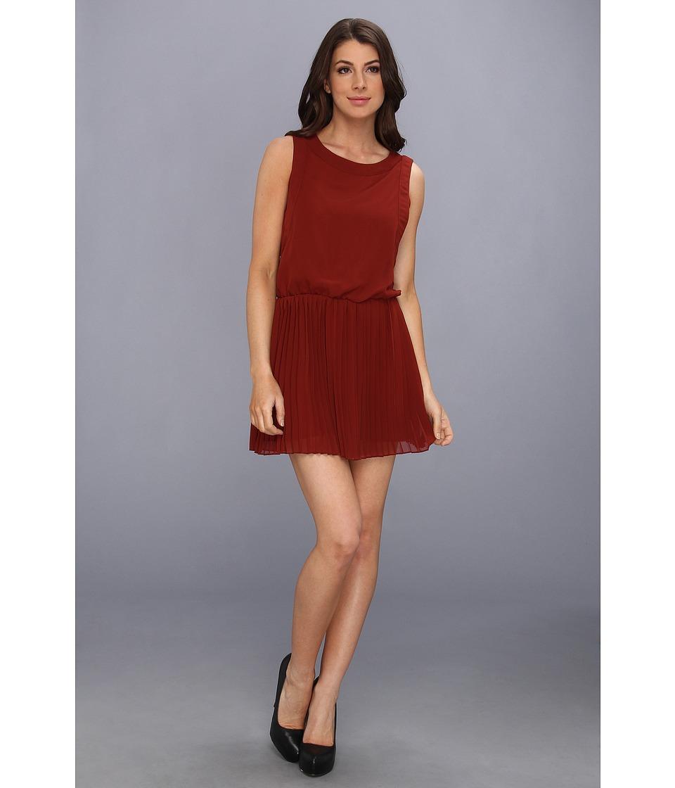 BCBGeneration - Pleat Waist Dress (Dark Paprika) Women's Dress
