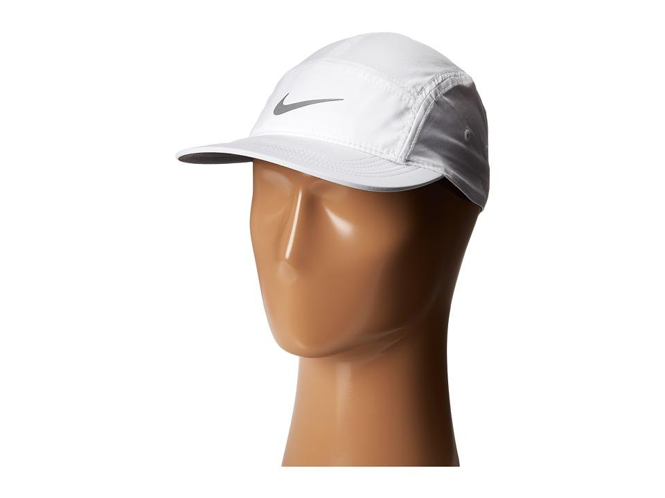 Nike - AW84 Cap (White/Black/Reflective Silver) Baseball Caps