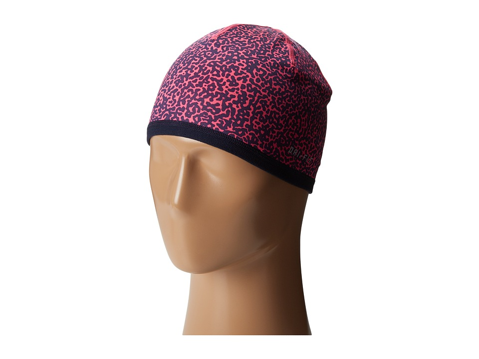 Nike - Perf Reversible Beanie (Big Kids) (Hyper Pink/Obsidian Heather/Black) Beanies