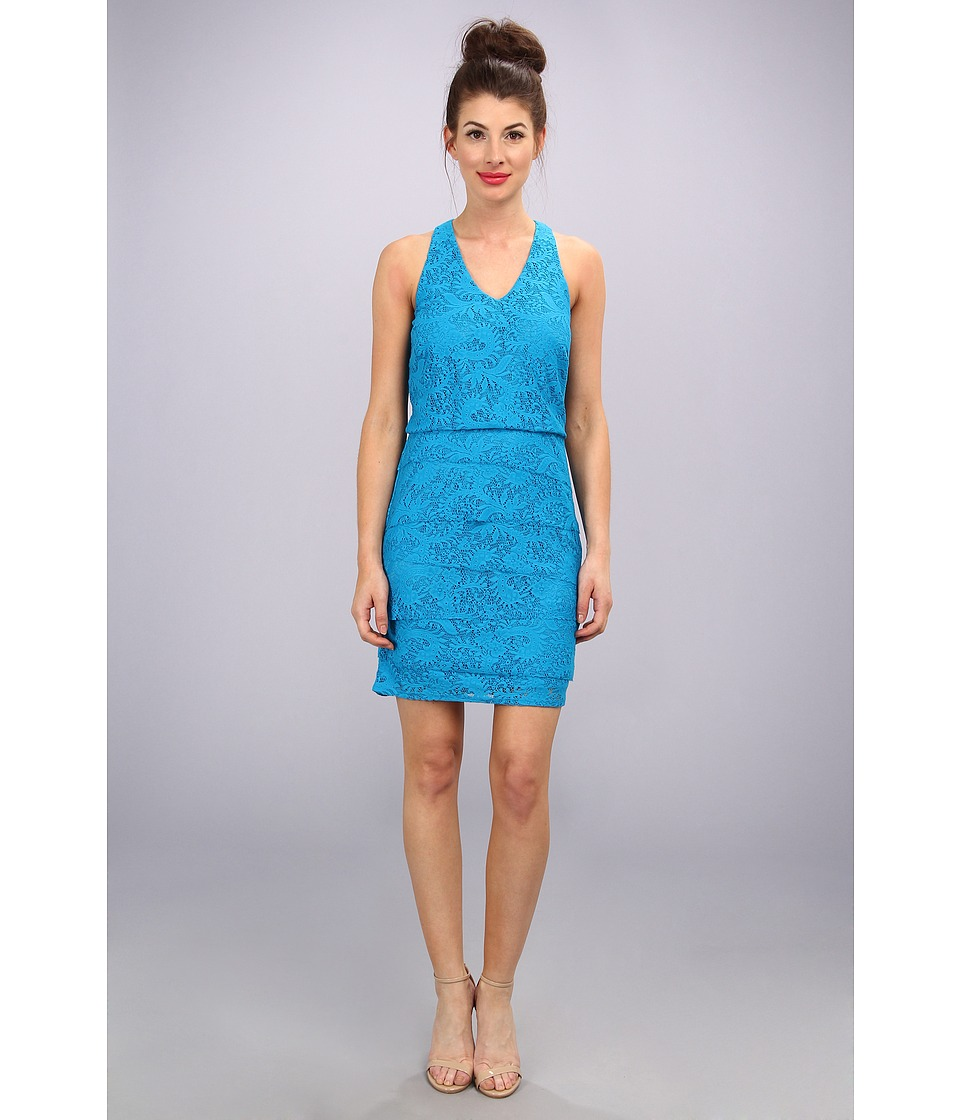 Laundry by Shelli Segal - Tiered Lace Dress (True Blue) Women's Dress