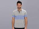 DKNY Jeans S/S Shifted Stripe Print Color Block Polo