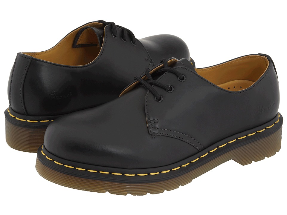 Dr. Martens - 1461 3-Eye Gibson (Black Smooth) Lace up casual Shoes