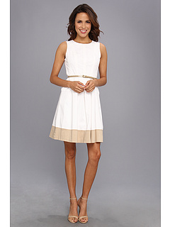 SALE! $57.99 - Save $40 on Nine West Colorblock w Eyelet with Topstitch Detail (White) Apparel - 40.83% OFF $98.00