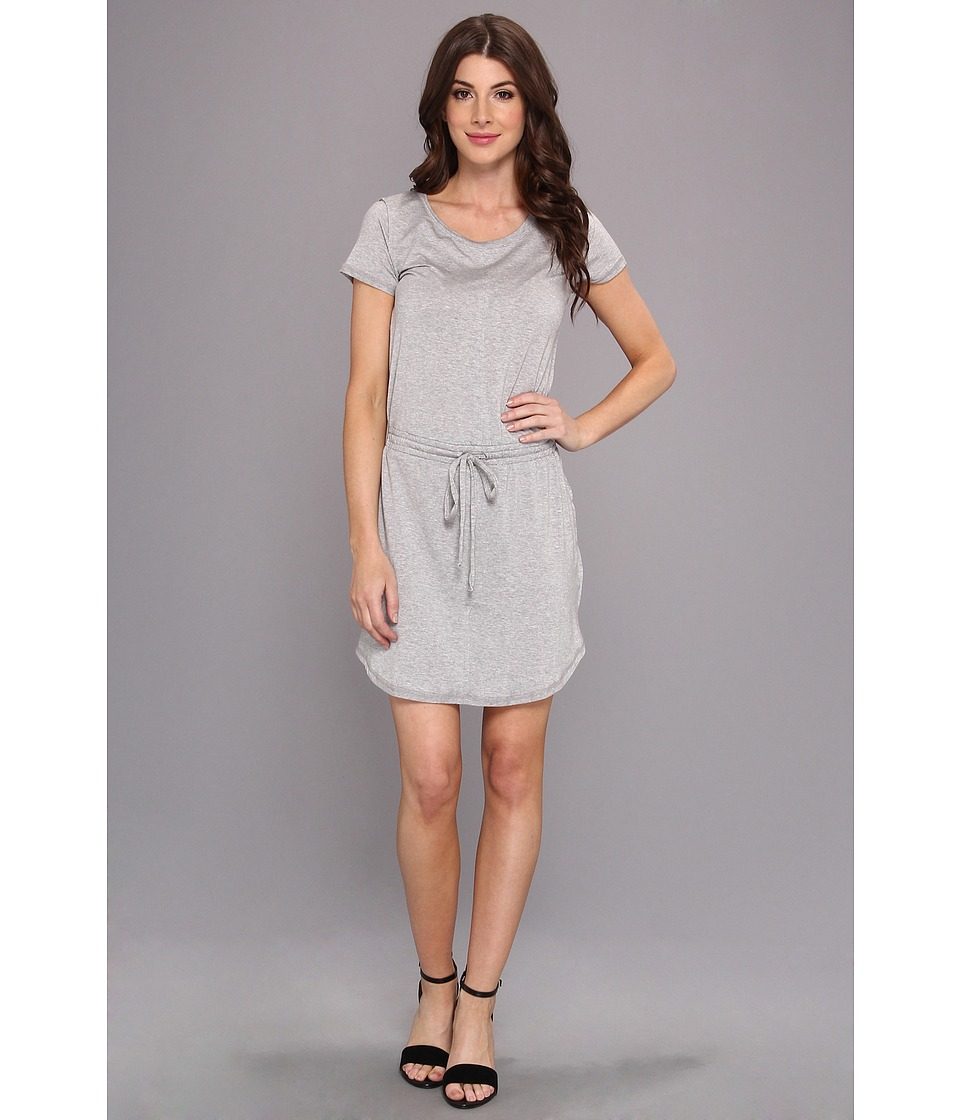 Splendid - Tie Waist Tee Dress (Heather Grey) Women's Dress