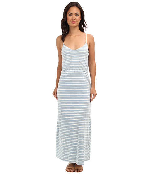 Splendid - Indigo Dye Maxi Stripe Dress (Light Venice) Women