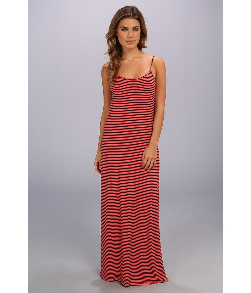 Splendid - Cami Maxi Dress - Stripe (Coral Pink) Women's Dress
