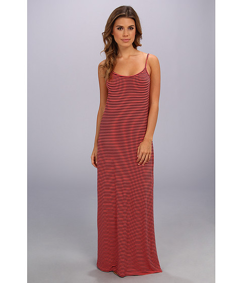 Splendid - Cami Maxi Dress - Stripe (Coral Pink) Women