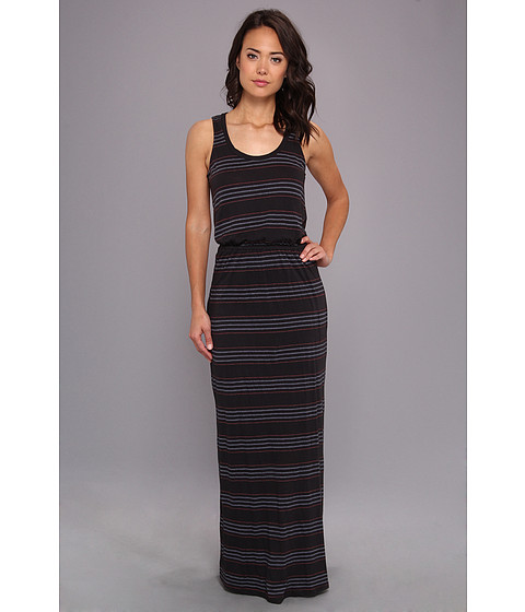 Splendid - Pipeline Stripe Maxi Dress (Matte Black) Women's Dress
