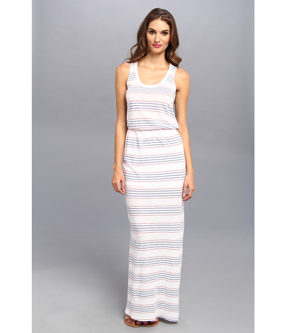 Splendid - Pipeline Stripe Maxi Dress (White) Women's Dress