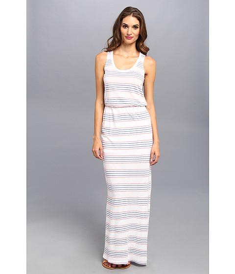 Splendid - Pipeline Stripe Maxi Dress (White) Women's Dress