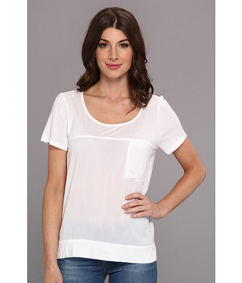 Splendid - Always Shirting Tee (White) Women's Short Sleeve Pullover