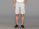DKNY Jeans Yarn Dyed Check Flat Front Short (White)
