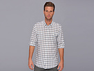 DKNY Jeans L/S Roll Tab Linen/Cotton Roadmap Check Shirt-City Press (Skyway)