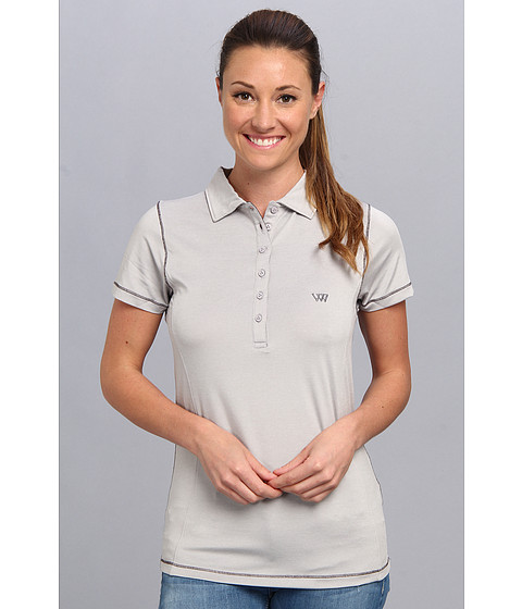 Heather Grey - Ashley Polo (Gainsburo Basketweave/Charcoal Basketweave) Women