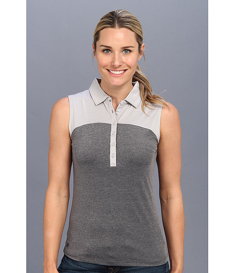 Heather Grey - Laura Sleeveless Top (Gainsburo Basketweave/Charcoal Basketweave) Women's Short Sleeve Knit