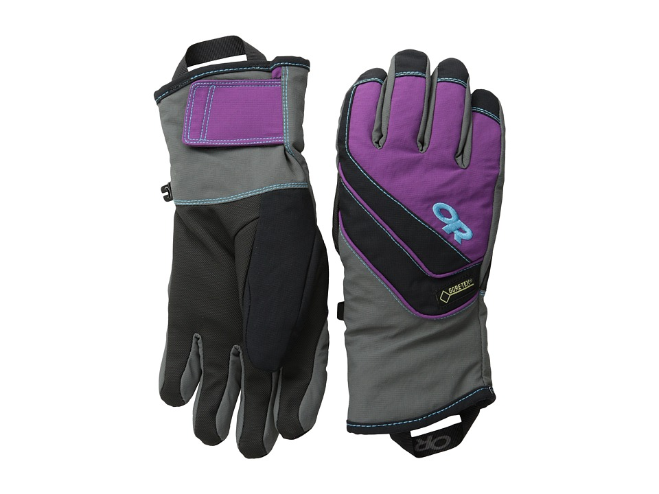 Outdoor Research - Centurion Gloves (Charcoal/Orchid/Rio) Extreme Cold Weather Gloves