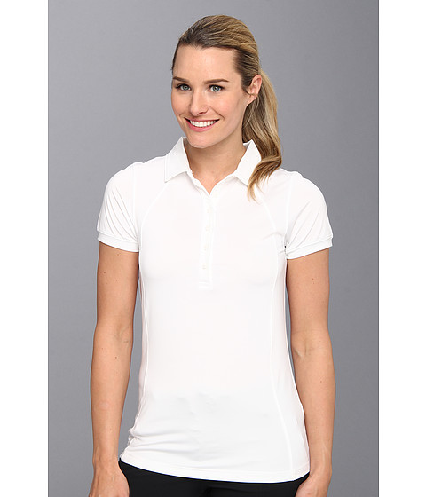 Heather Grey - Lolo Polo (White) Women's Short Sleeve Knit
