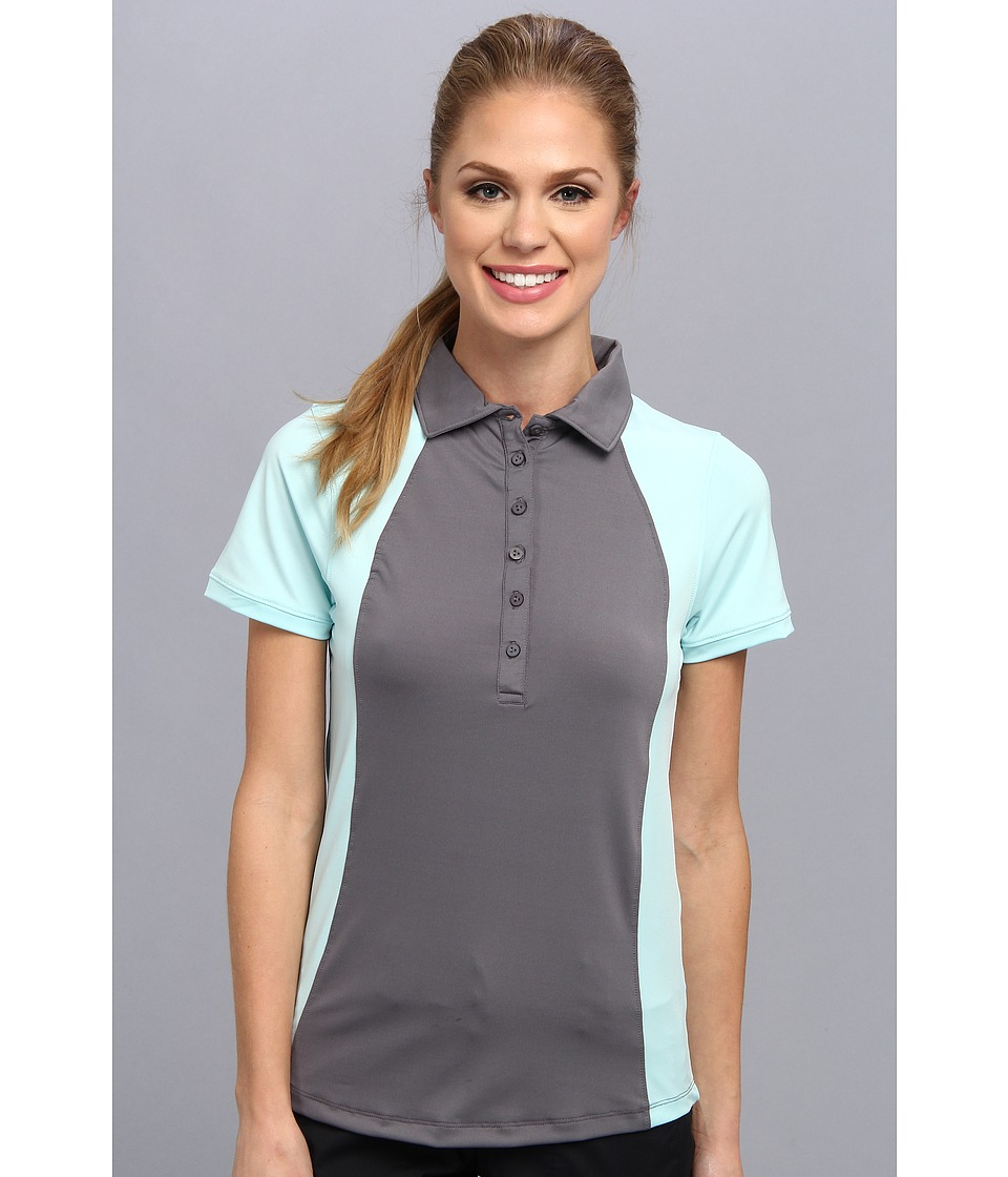 Heather Grey - Paige (Smoke/Doll Baby Blue) Women's Short Sleeve Knit