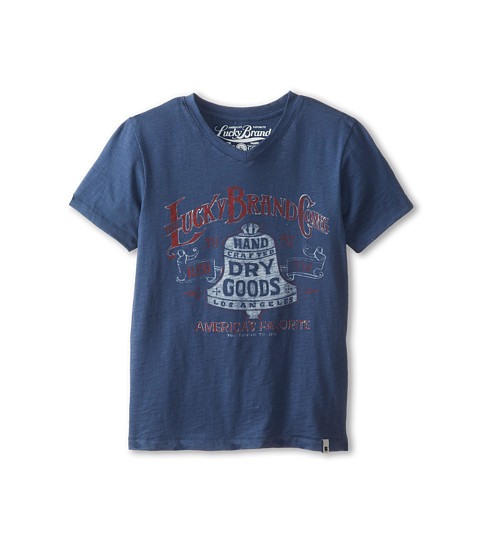 Lucky Brand Kids - Lucky Bell Tee (Big Kids) (Ensign Blue) Boy
