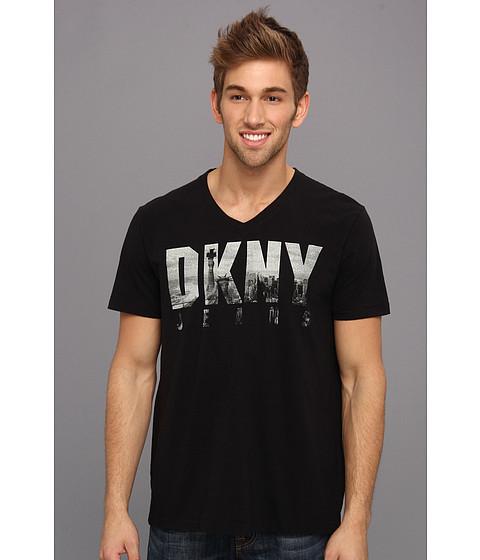 DKNY Jeans - S/S Iconic Billboard V-Neck Tee (Black) Men