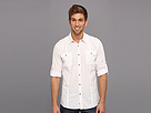 DKNY Jeans L/S Solid Roll Tab Shirt-Casual Press