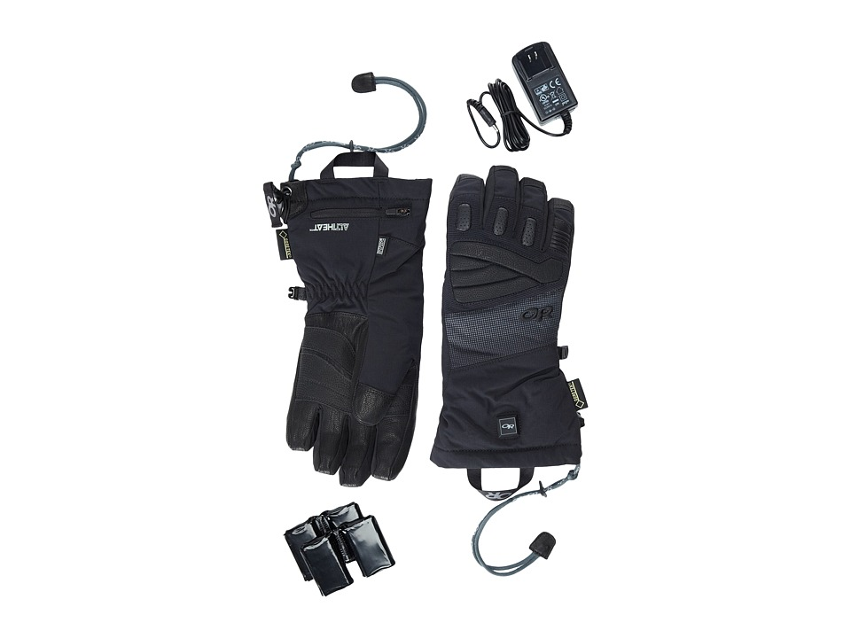 Outdoor Research - Lucent Heated Gloves (Black) Extreme Cold Weather Gloves