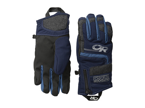 Outdoor Research - Riot Gloves (Night/Charcoal/Dusk) Extreme Cold Weather Gloves