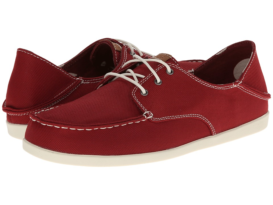 OluKai - Heleuma Mesh (Royal Red/Off White) Women