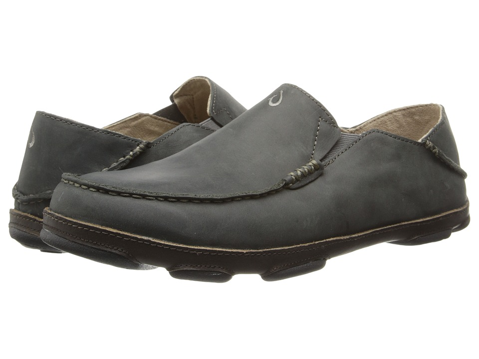 OluKai - Moloa (Black Olive/Seal Brown) Men's Slip on Shoes