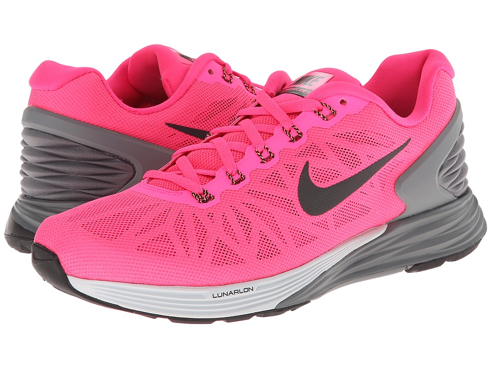 Nike - Lunarglide 6 (Hyper Pink/Pure Platinum/Cool Grey/Black) Women's Cross Training Shoes