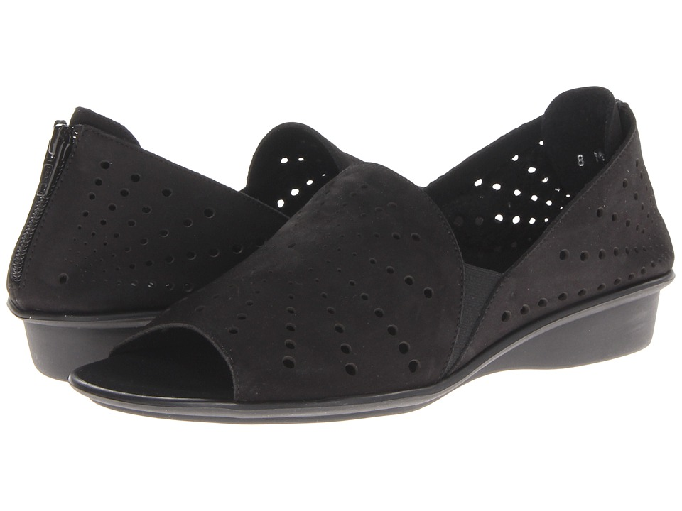 Sesto Meucci - Elvira (Black Nubuck) Women's Flat Shoes