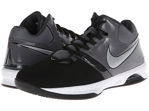 Nike - Air Visi Pro V NBK (Black/Dark Grey/Anthracite/Metallic Silver) Men's Basketball Shoes