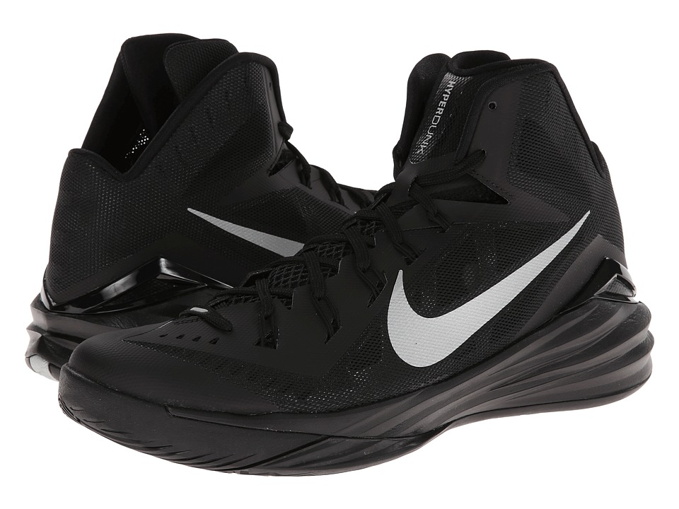 Nike - Hyperdunk 2014 (Black/Metallic Silver) Men's Basketball Shoes