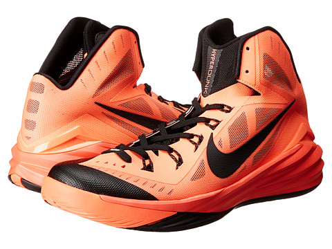 Nike - Hyperdunk 2014 (Bright Mango/Black) Men's Basketball Shoes