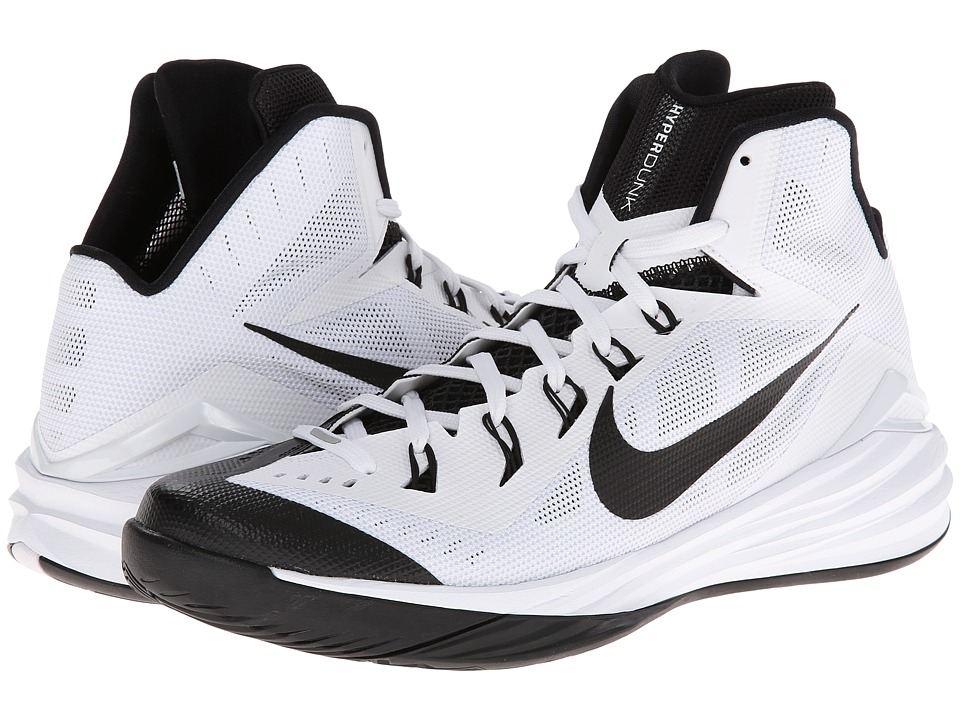 Nike - Hyperdunk 2014 (White/Black) Men's Basketball Shoes