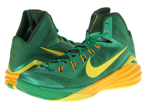 Nike - Hyperdunk 2014 (Lucky Green/Gorge Green/University Gold/Sonic Yellow) Men's Basketball Shoes