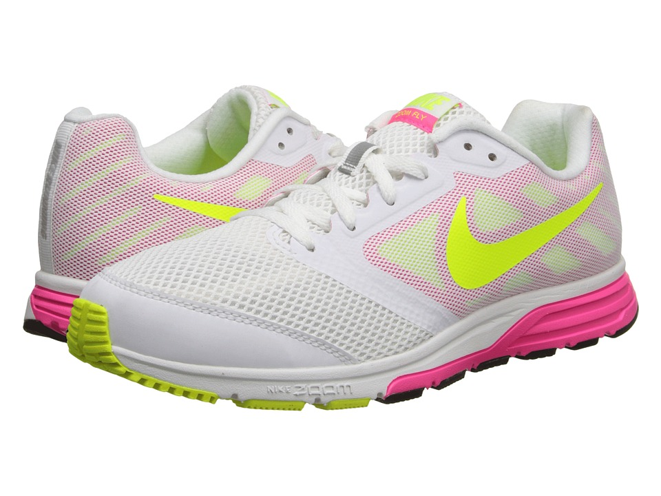 Nike - Zoom Fly (White/Hyper Pink/Volt) Women's Running Shoes
