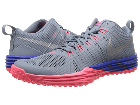 Nike - Lunar TR1 (Magnet Grey/Hyper Punch/Metallic Silver) Men's Cross Training Shoes