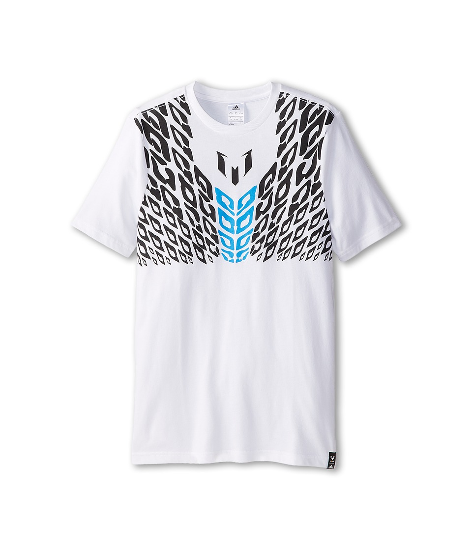 adidas Kids - Youth Messi Tee (Little/Big Kids) (White/Black/Victory Red) Boy
