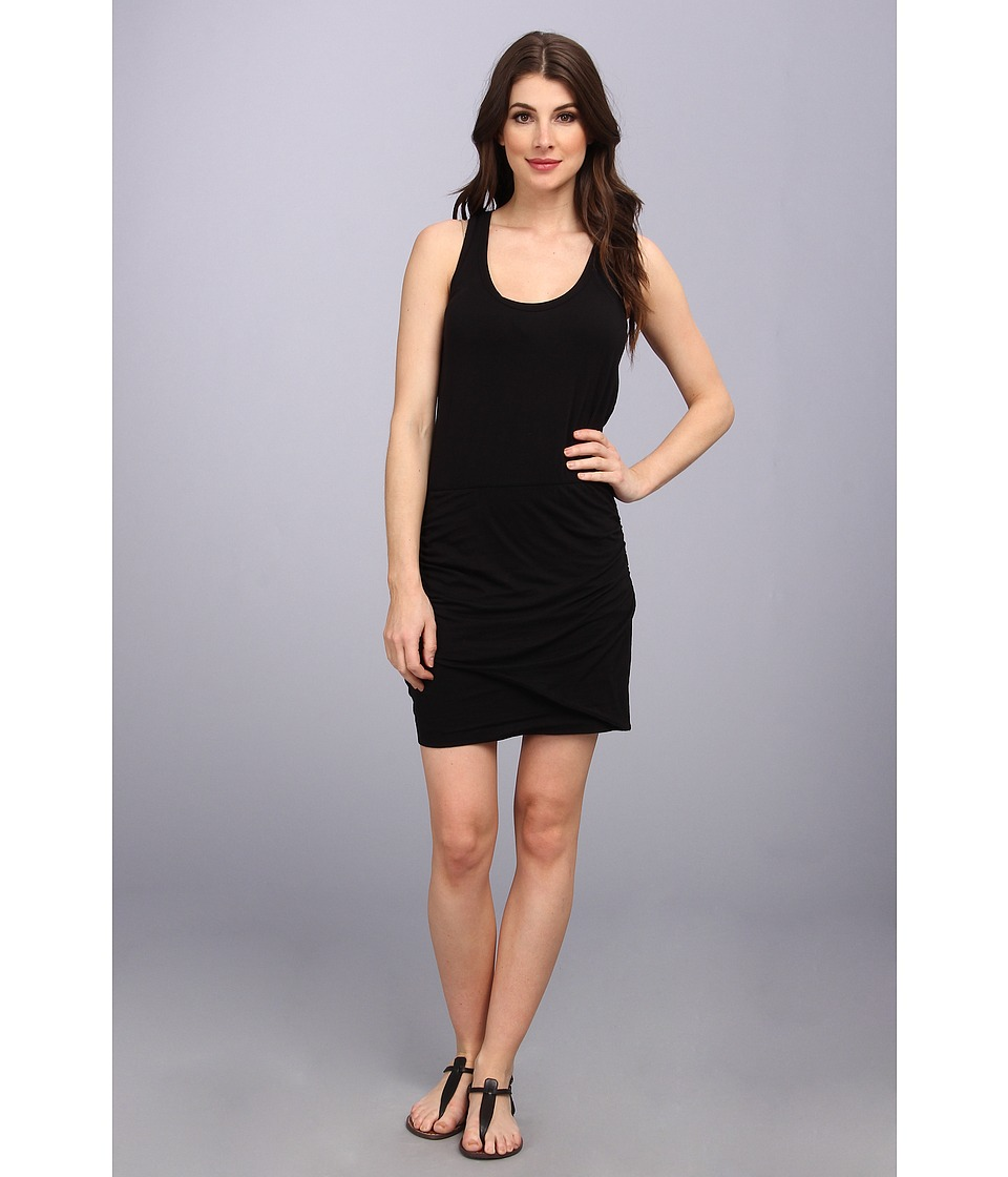 Splendid - Rouched Mini Dress (Black) Women's Dress