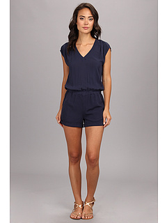 SALE! $39.99 - Save $88 on Splendid Short Romper (Navy) Apparel - 68.76% OFF $128.00