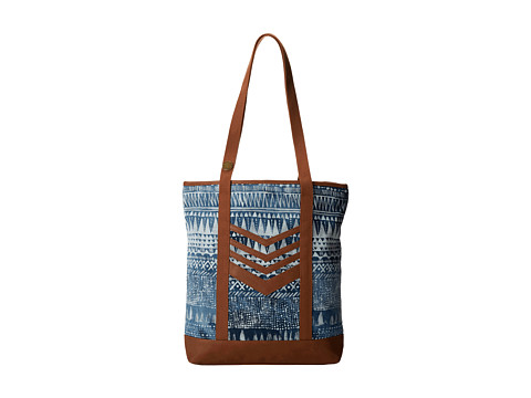Volcom - Thrifty Fun Tote (Brown) Tote Handbags