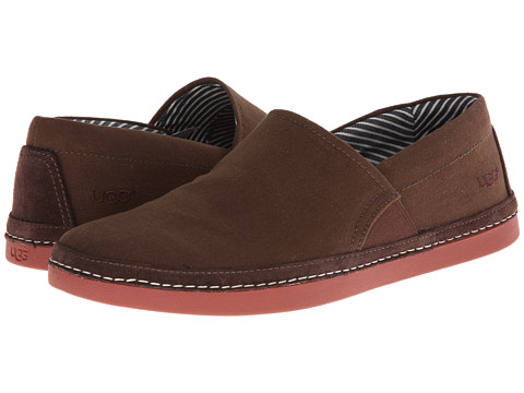 UGG - Reefton Canvas (Grizzly) Men's Slip on Shoes