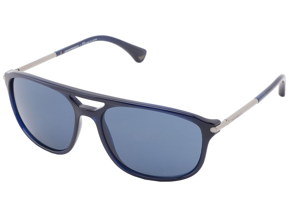 Emporio Armani - 0EA4013 (Dark Blue) Plastic Frame Fashion Sunglasses