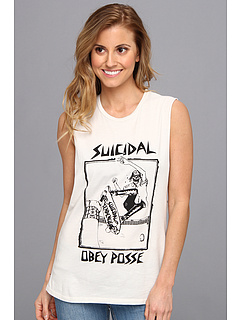 SALE! $9.99 - Save $20 on Obey OBEY x Suicidal Tendencies Pool Skater Moto Tank (Light Grey) Apparel - 66.70% OFF $30.00