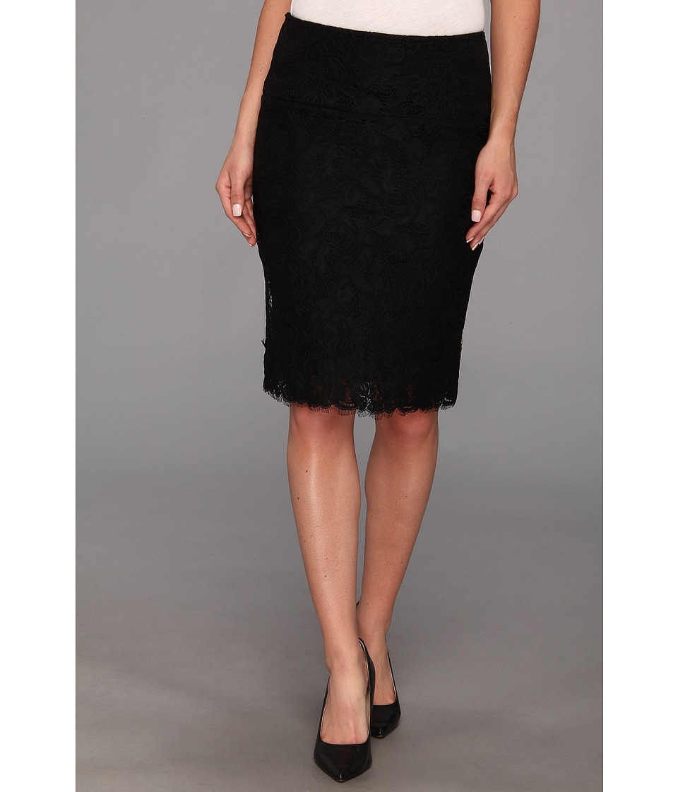 Lysse - Lace Overlay Skirt (Black Lace) Women