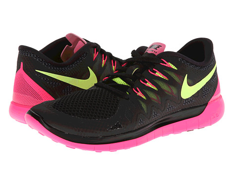 Nike - Nike Free 5.0 '14 (Black/Hyper Pink/Anthracite/Volt) Women's Running Shoes