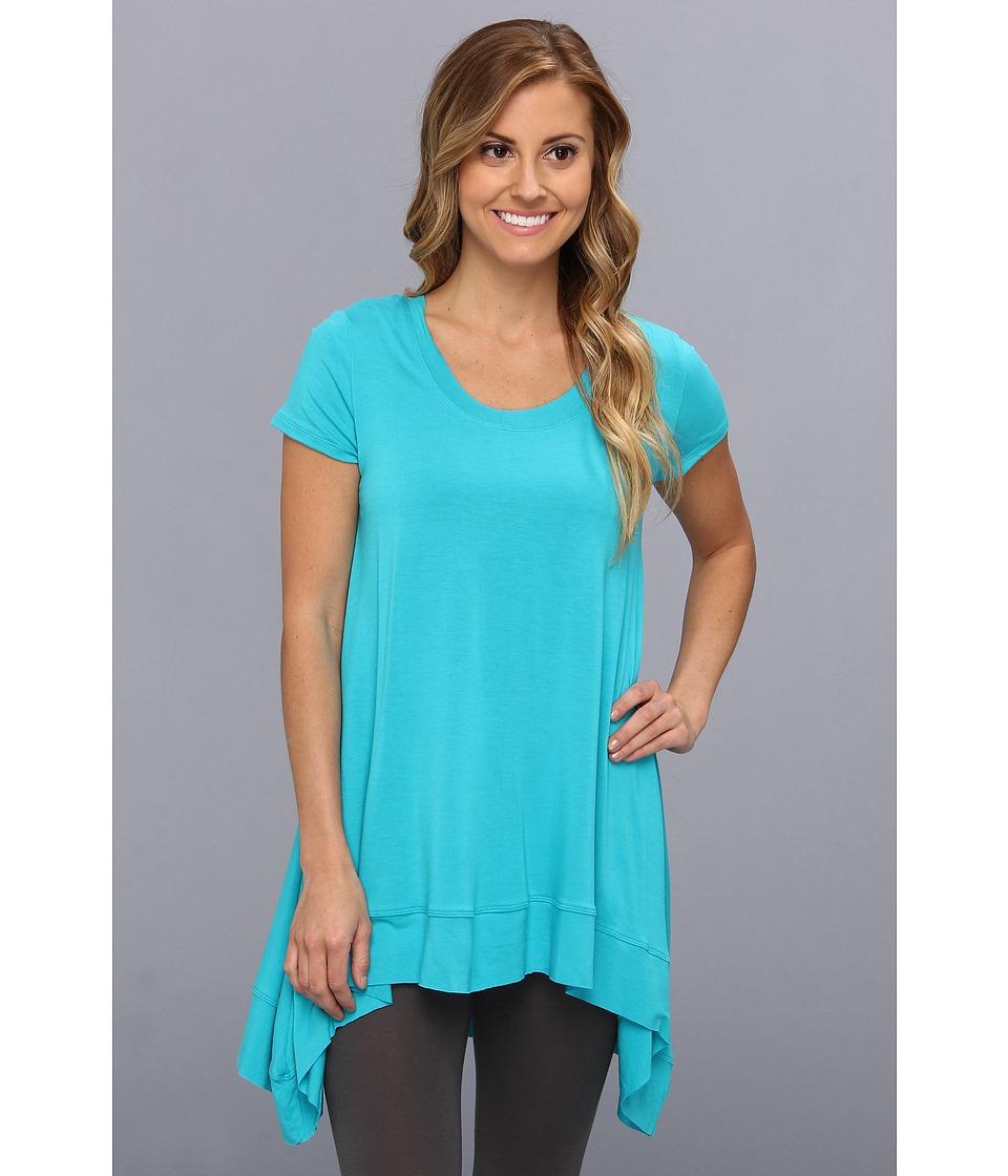 Lysse - Short Sleeve Drape Top w/ Inner Control Tank (Turquoise) Women