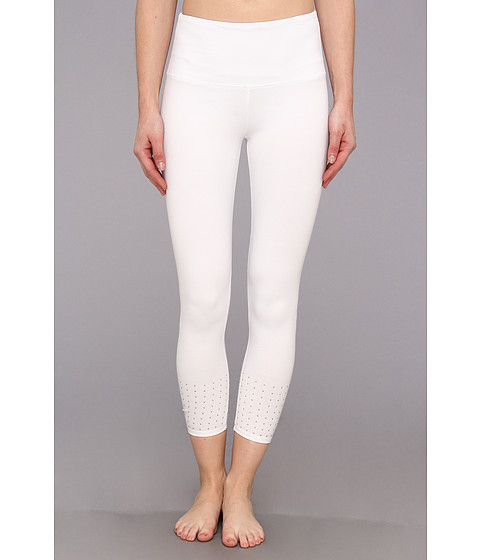 Lysse - Studded Crop Leggings 1108C (White) Women's Casual Pants